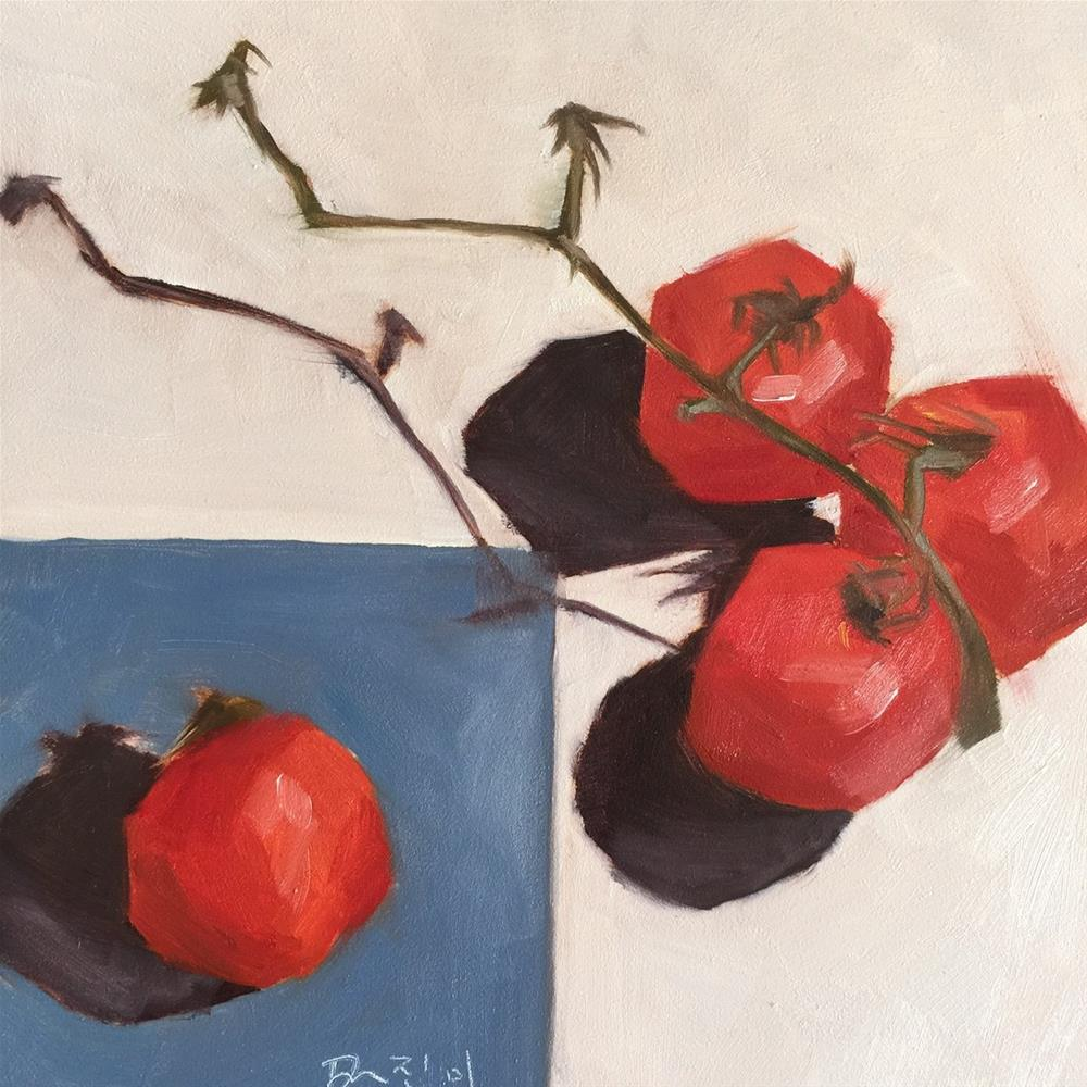 """104 Vine Ripened"" original fine art by Jenny Doh"