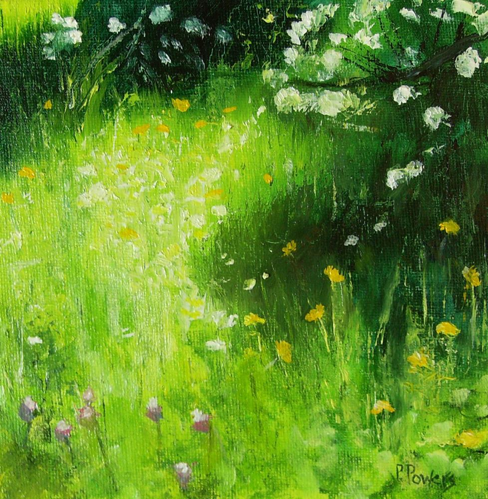 """Sunlit Garden"" original fine art by Patricia J. Powers"