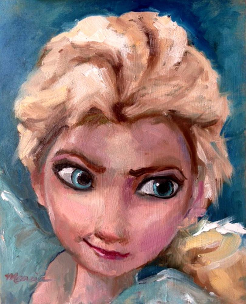 """Color Challenge - Elsa"" original fine art by Marcia Hodges"