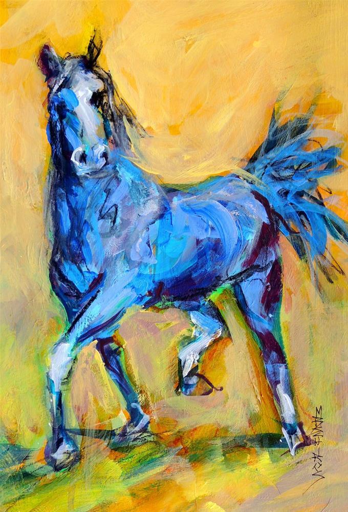 """""""Big Blue"""" original fine art by Mary Schiros"""