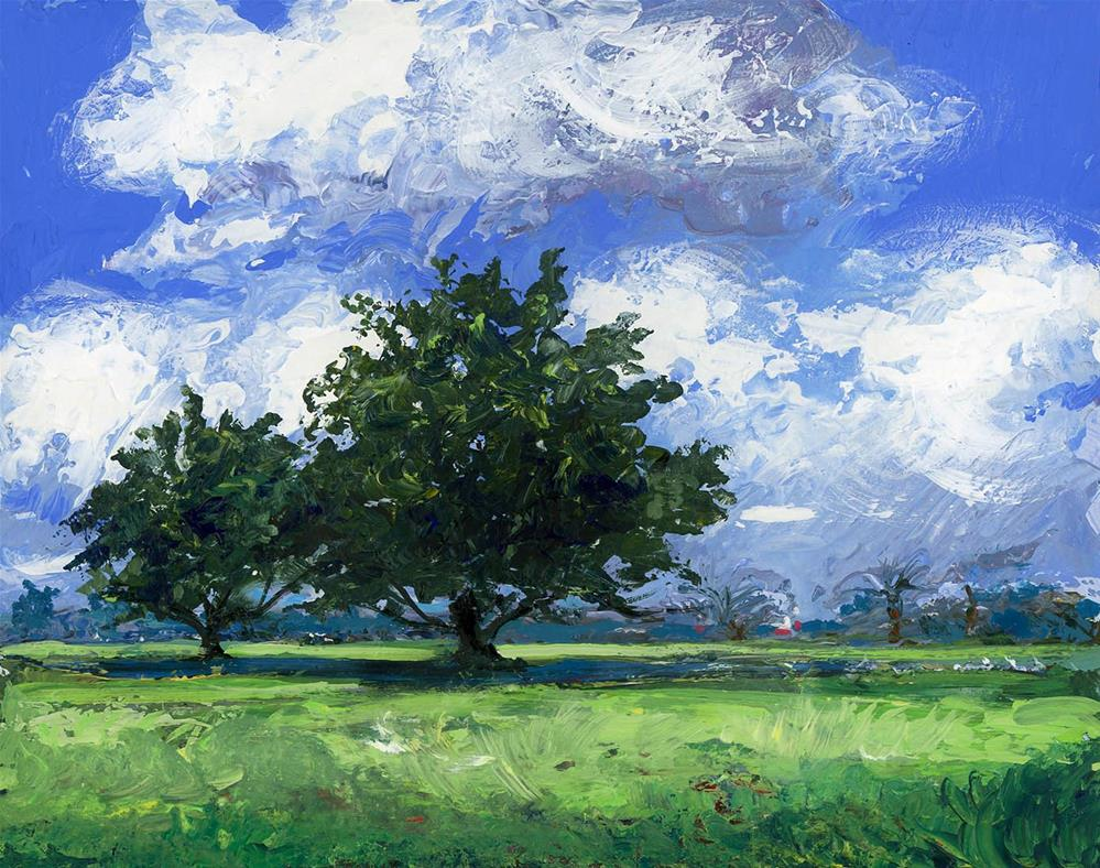 """Florida Pasture"" original fine art by Chris Ousley"