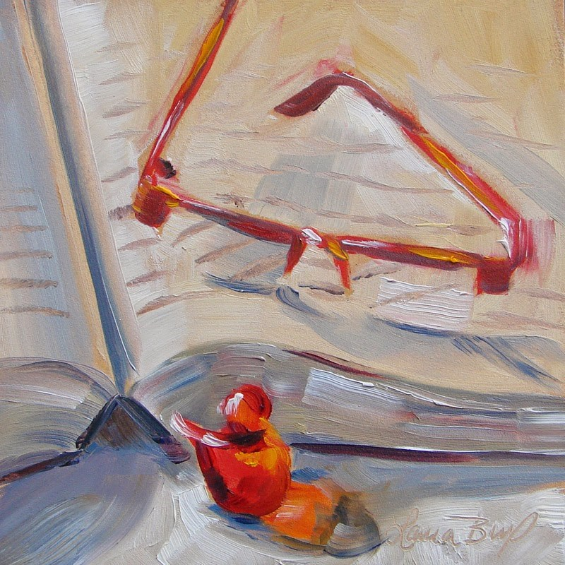 """Last Book 174"" original fine art by Laura  Buxo"