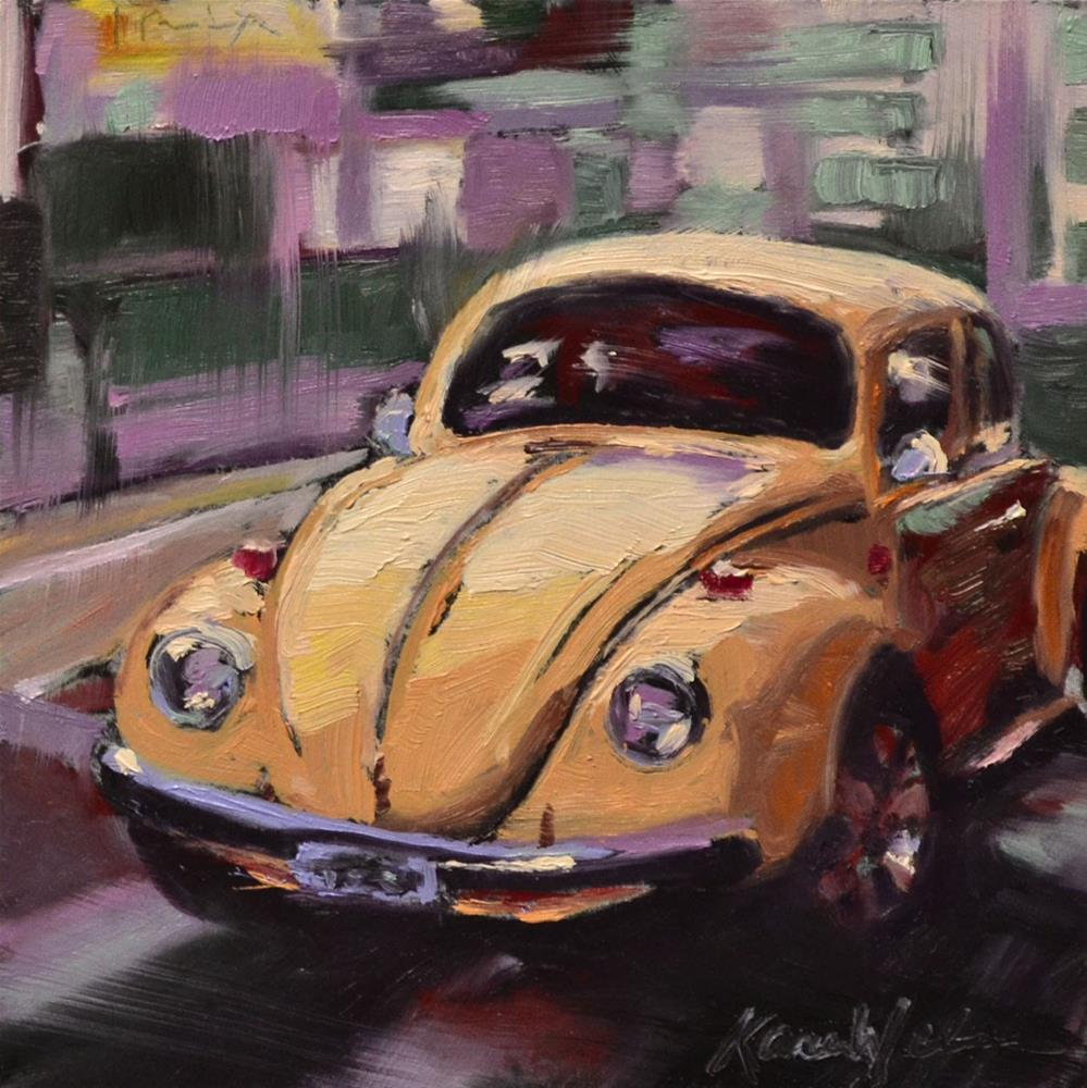 """Yellow Bug"" original fine art by Karen Weber"