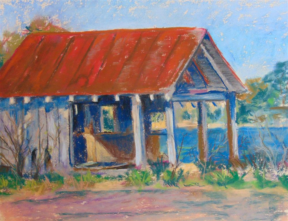 """Sunnybank Ferry Bait Shop"" original fine art by Catherine Kauffman"