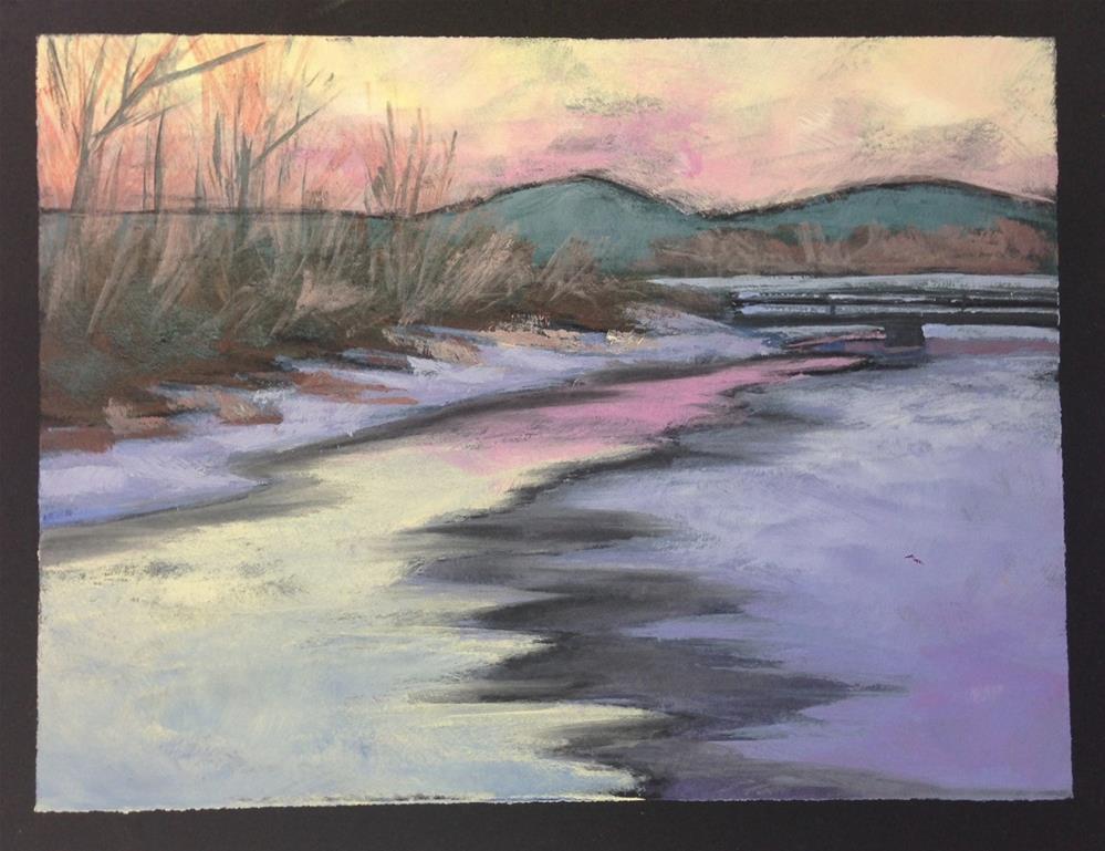 """""""Pastel Sunset"""" original fine art by Eileen Hennemann"""