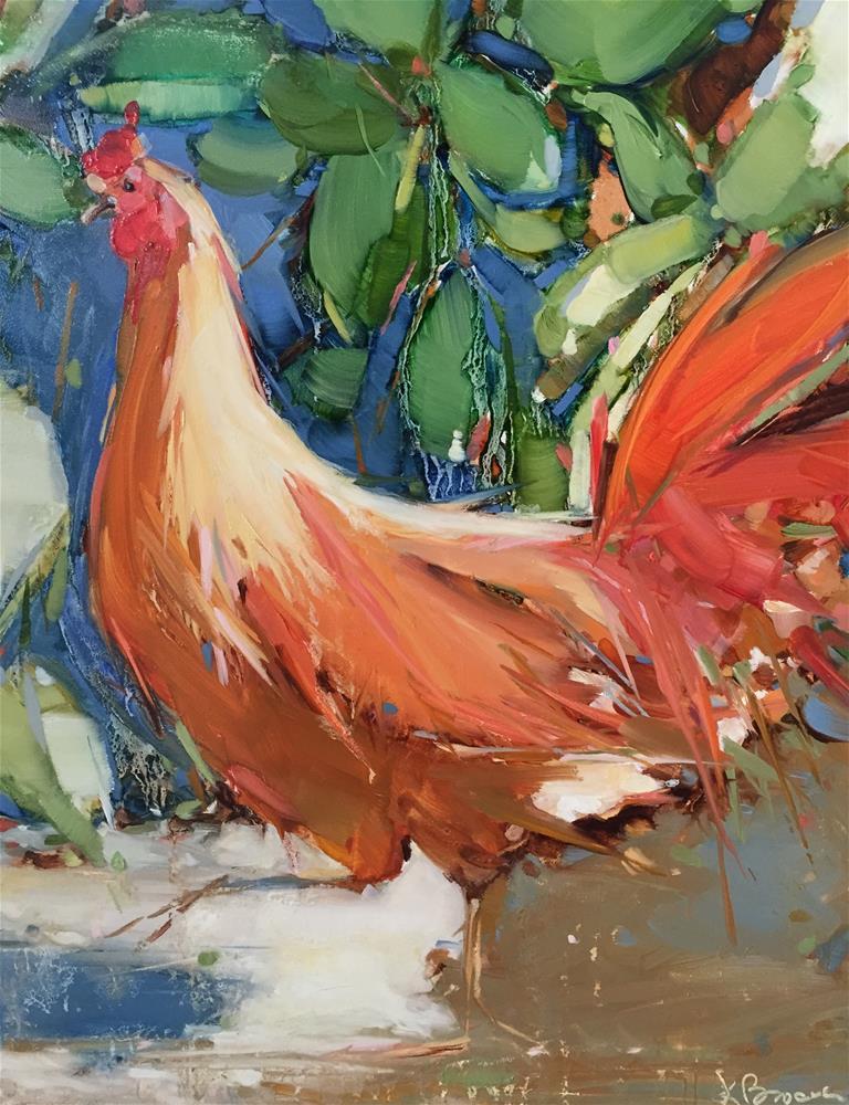"""Big Roo"" original fine art by Kathleen Broaderick"