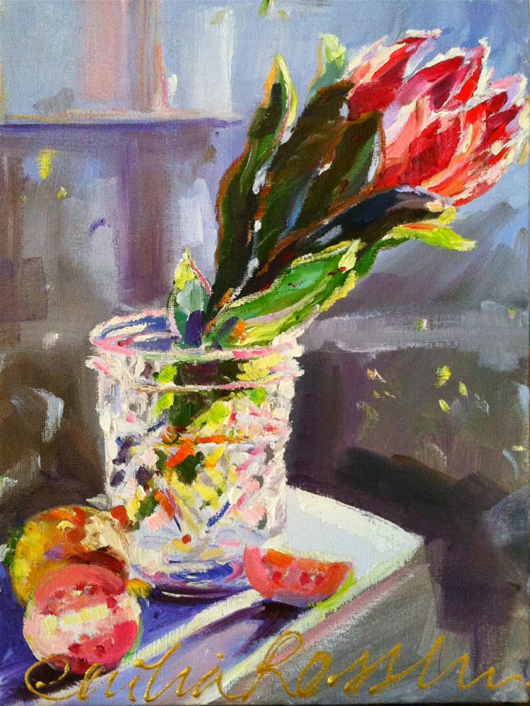 """PROTEA"" original fine art by Cecilia Rosslee"