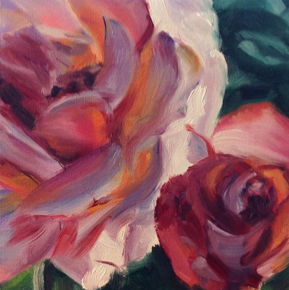"""On the Rose Bush"" original fine art by Linda Lowery"