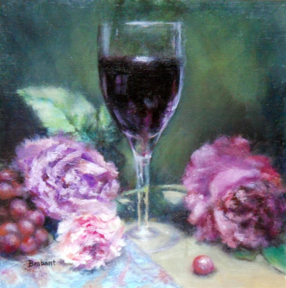 """Of Wine and Roses"" original fine art by Jill Brabant"