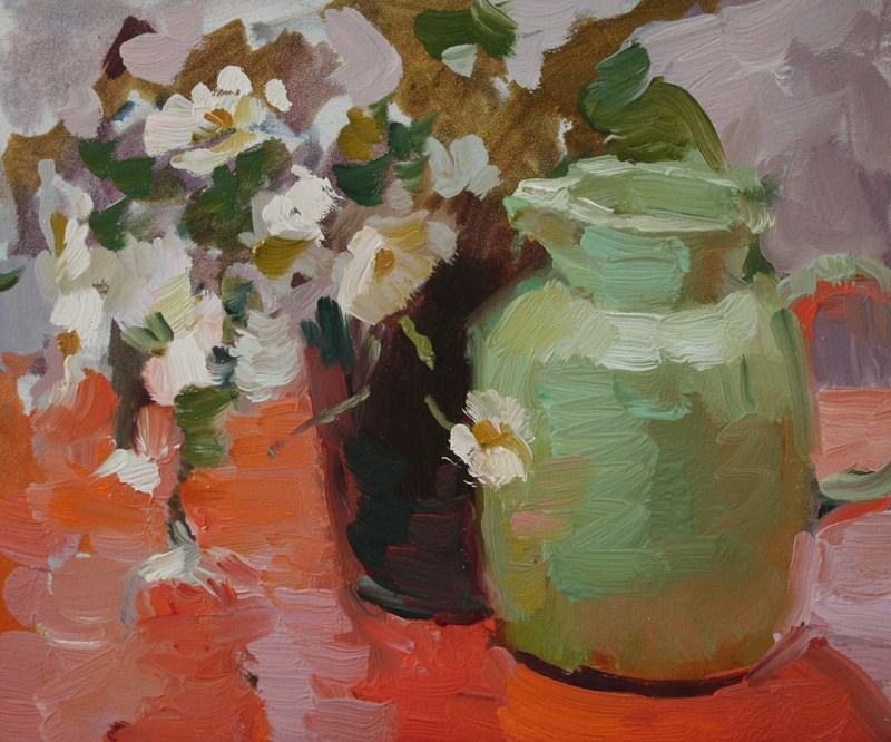 Daisy Study NFS original fine art by Kathryn Townsend