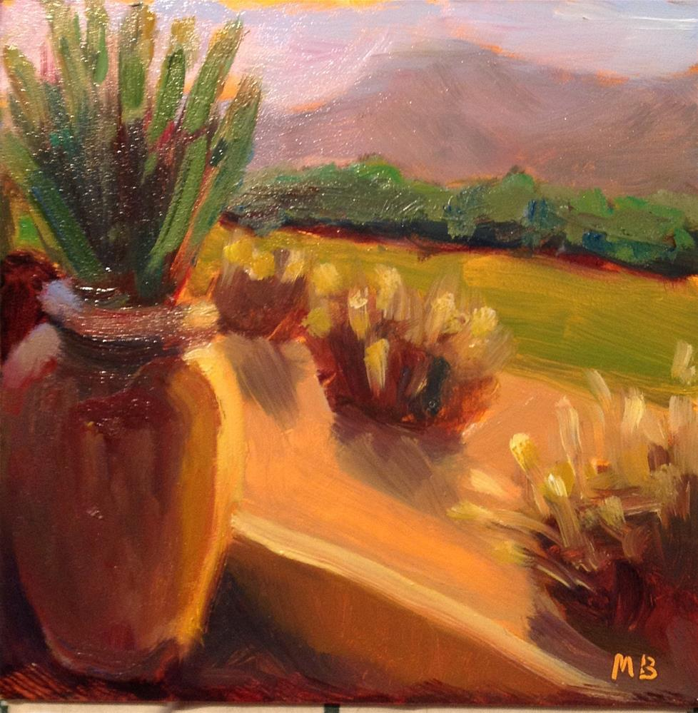"""la Quinta Garden"" original fine art by Marcia Bergtholdt"
