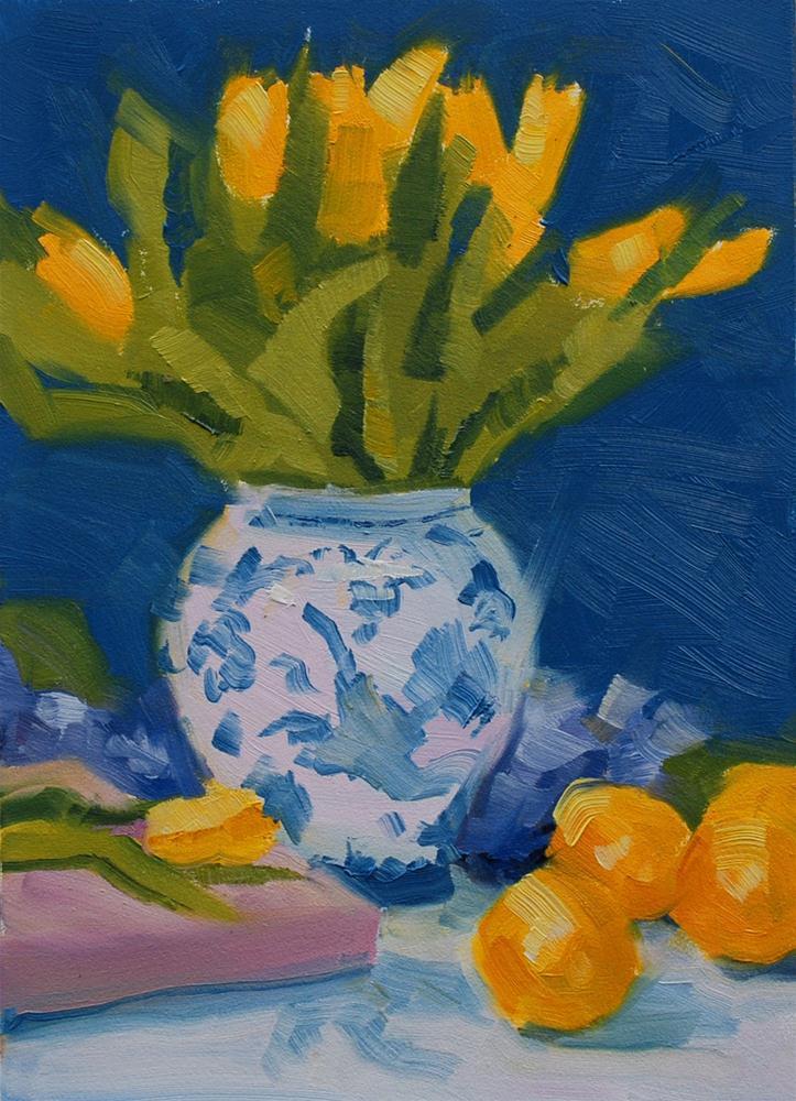"""Tulips and Lemons"" original fine art by Susan McManamen"