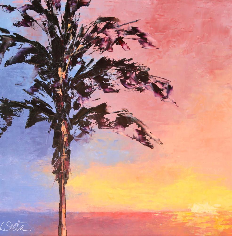 """Maui Sunset"" original fine art by Leslie Saeta"