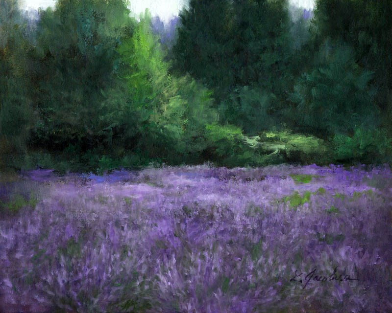 """Lavender Fields II"" original fine art by Linda Jacobus"