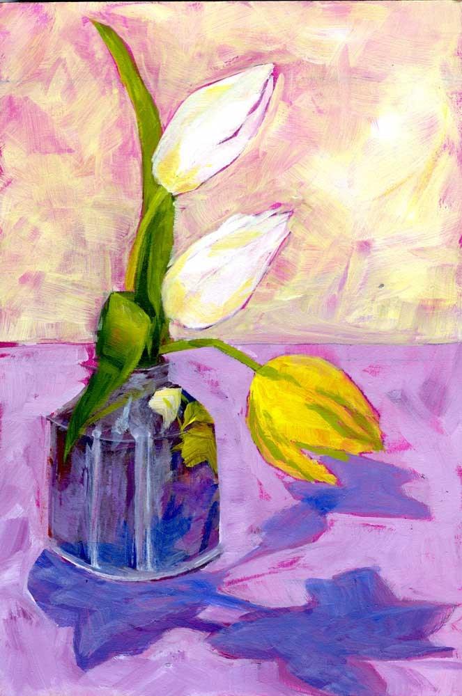 """""""Pastel Tulips"""" original fine art by Eileen Hennemann"""