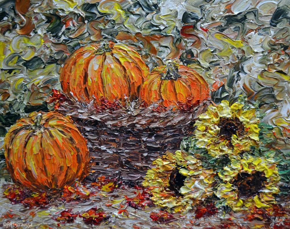 """Fall Harvest"" original fine art by Gloria Ester"