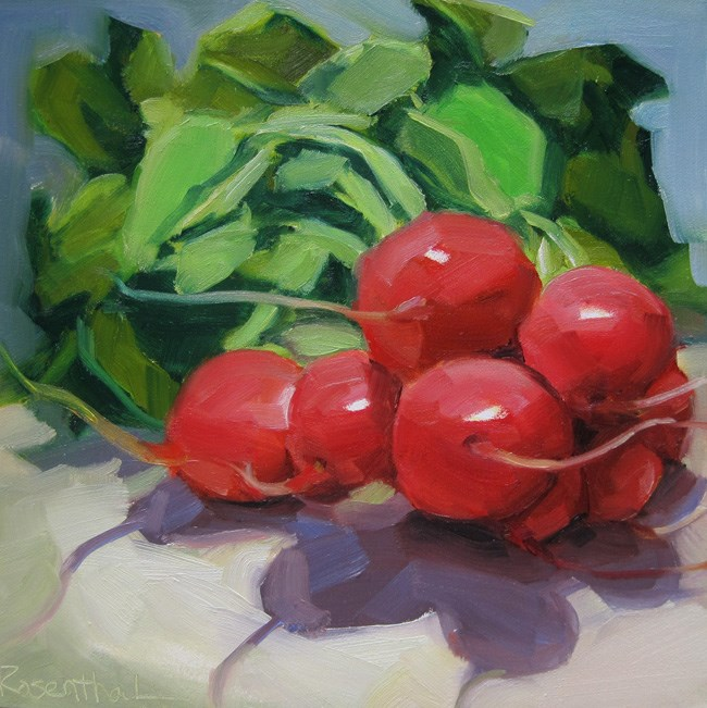 """Oh Radishes"" original fine art by Robin Rosenthal"
