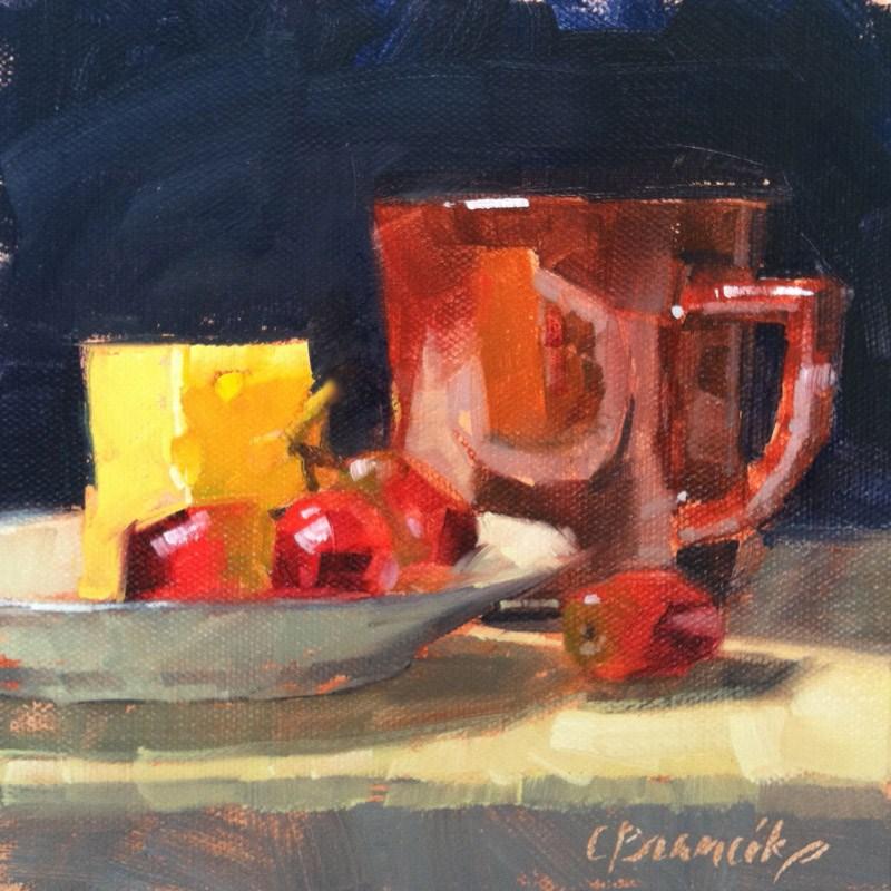 """Red Grapes & Swiss"" original fine art by Candace Brancik"