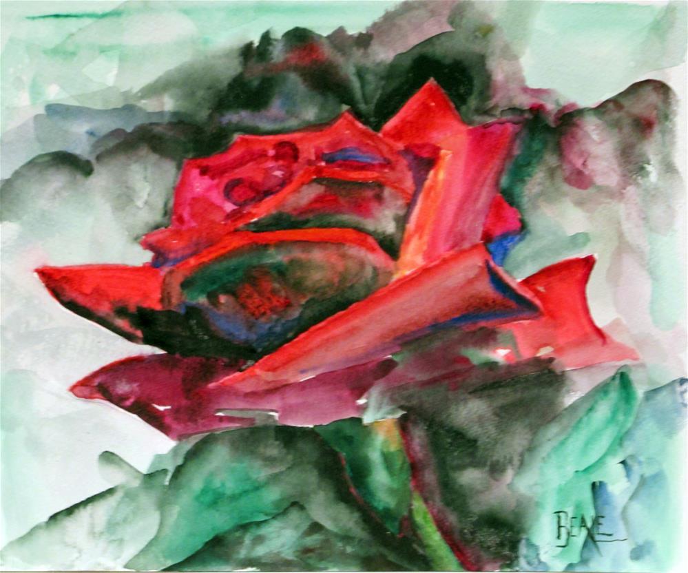 """Rose"" original fine art by  David Beale"