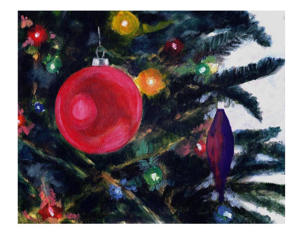 """Jingle Bell Time"" original fine art by Suzanne Woodward"