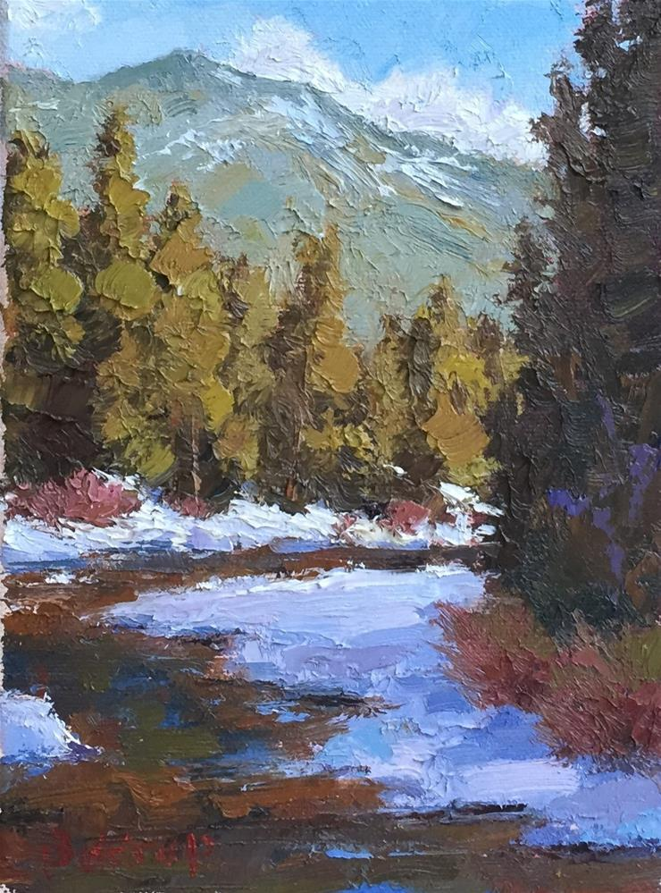 """""""First Snow - Aspen"""" original fine art by Mark Bidstrup"""