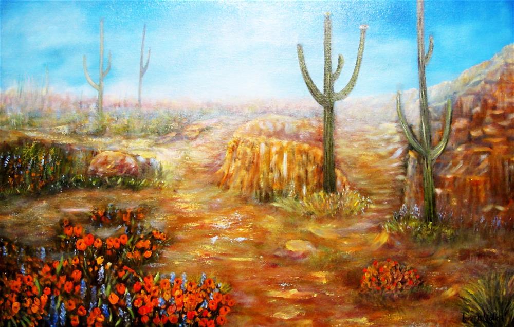 """""""Sonoran Spring"""" original fine art by Loretta Luglio"""