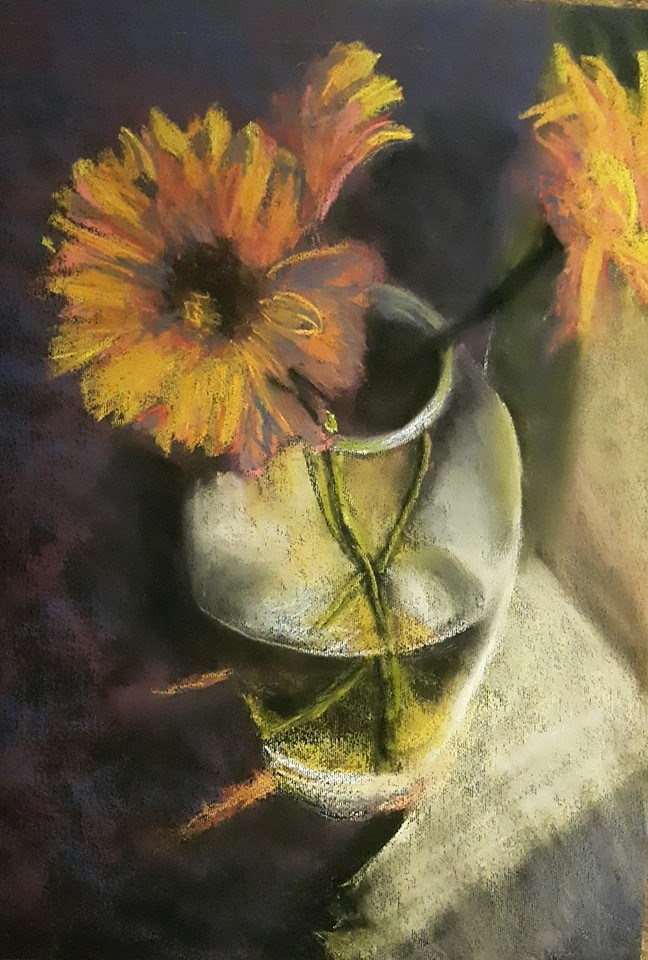 """A daisy a day..."" original fine art by Rentia Coetzee"