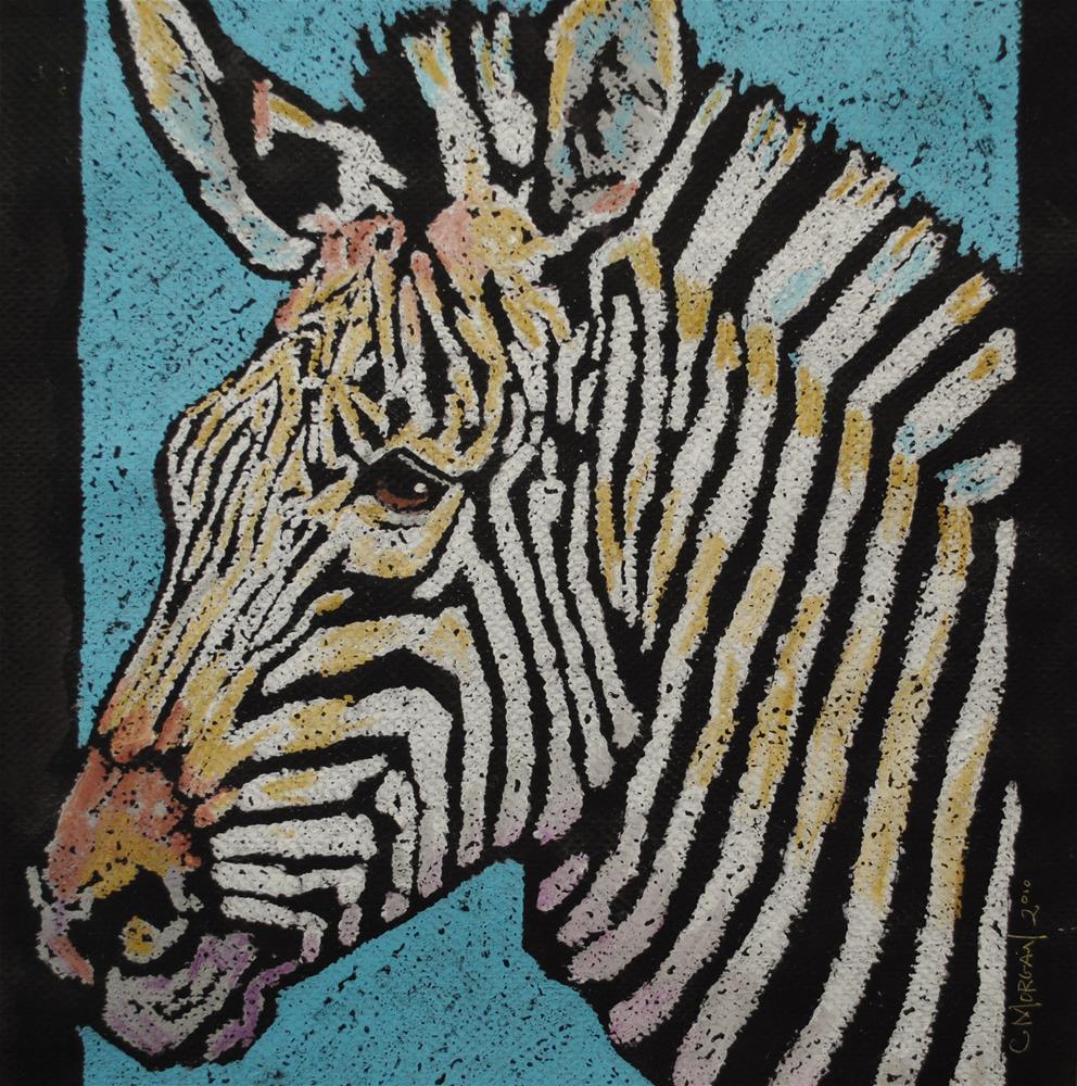 """""""Zebra"""" original fine art by Cecile W. Morgan"""