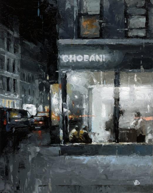 """Chobani"" original fine art by Victor Bauer"