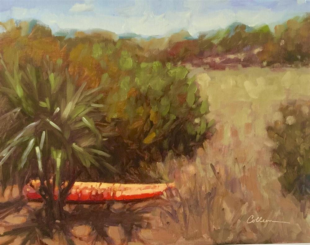 """Orange Kayak"" original fine art by Colleen Parker"