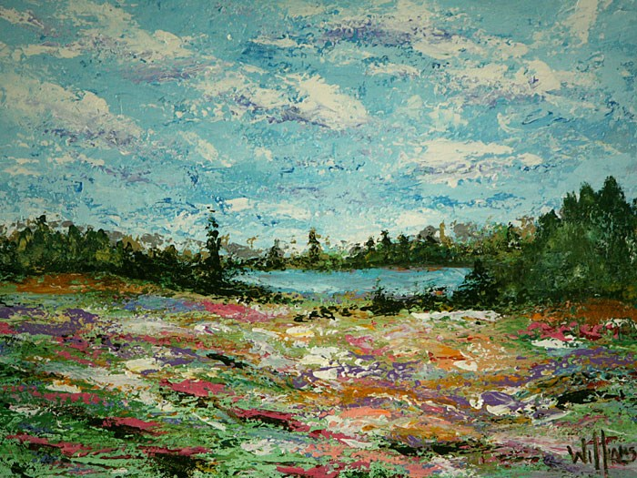 """Wildflowers"" original fine art by Sunny Williams"