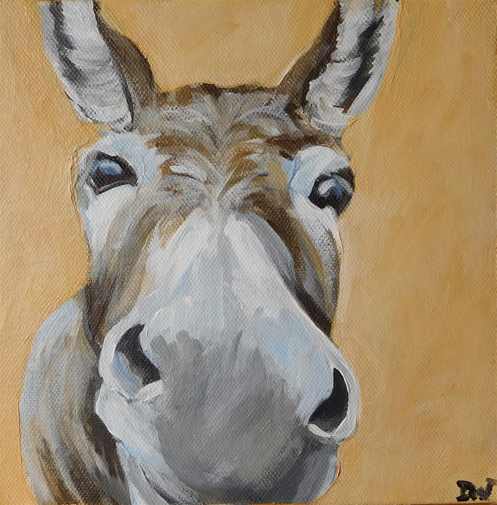 """D is for Donkey"" original fine art by Daryl West"