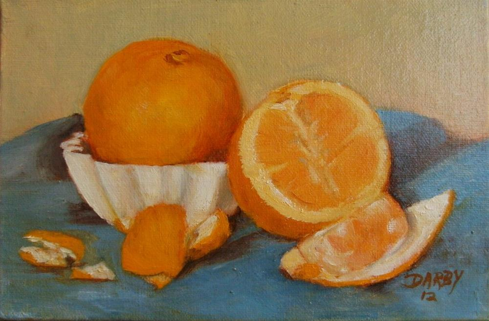 """Juicy Snack"" original fine art by Lynn Darby"