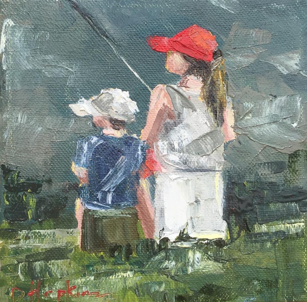 """Gone Fishin'"" original fine art by Denise Hopkins"