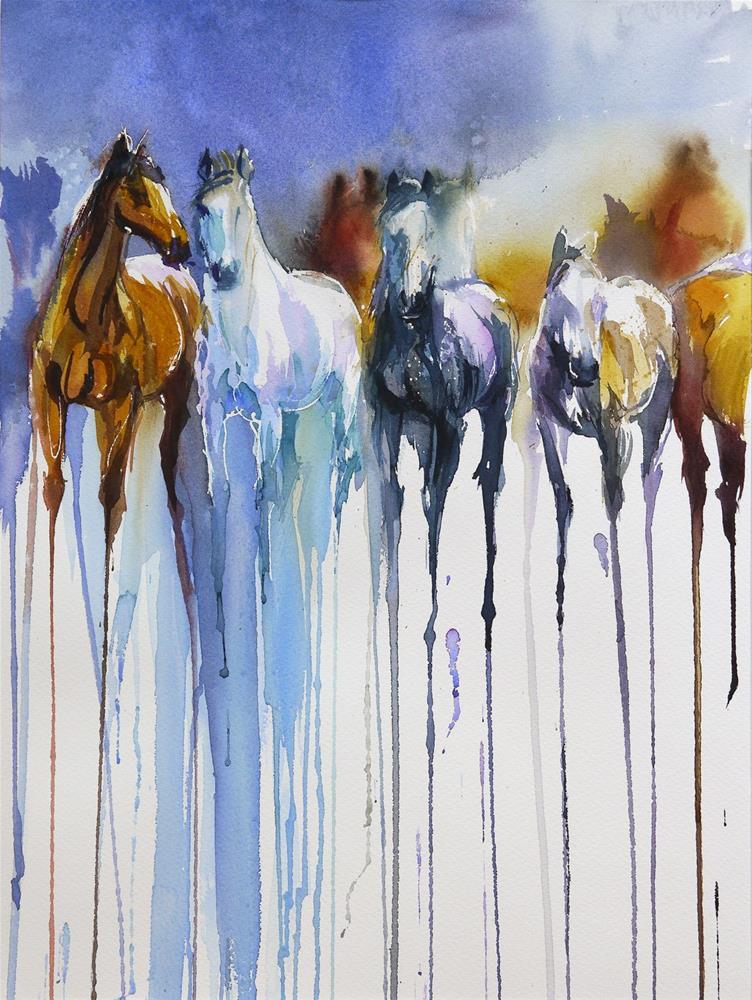 """horses"" original fine art by Beata Musial-Tomaszewska"