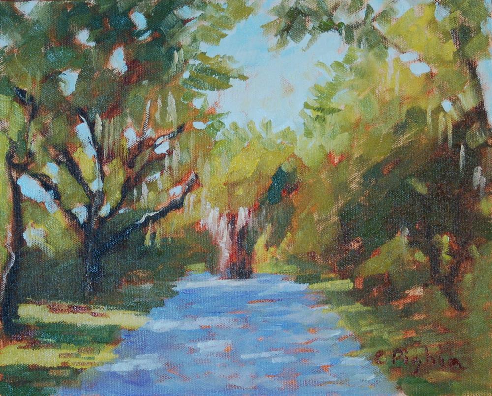 """Tree Shadows"" original fine art by Carol Pighin"