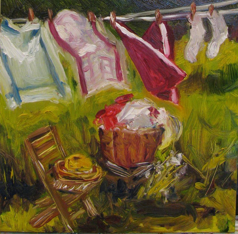 Clean Cotton II original fine art by Susan E Jones