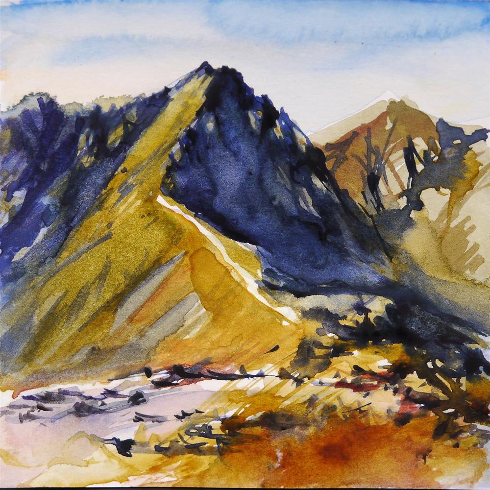 """mountain"" original fine art by Beata Musial-Tomaszewska"