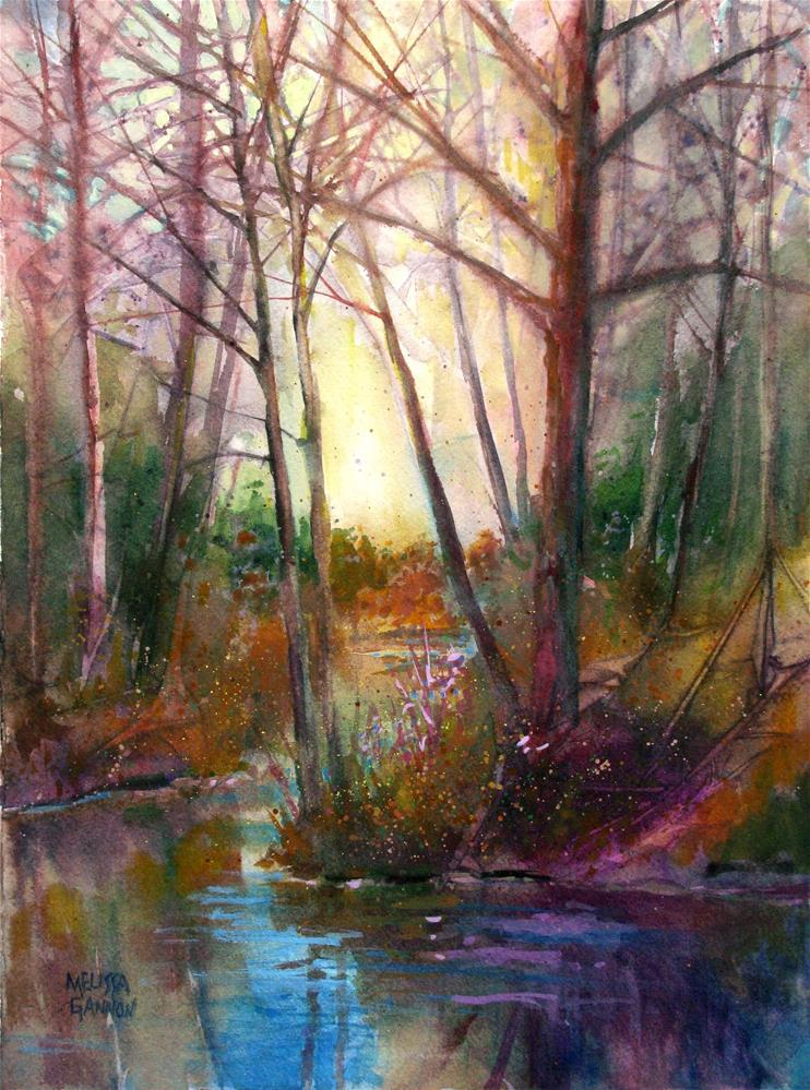 """Riverbank Hues"" original fine art by Melissa Gannon"
