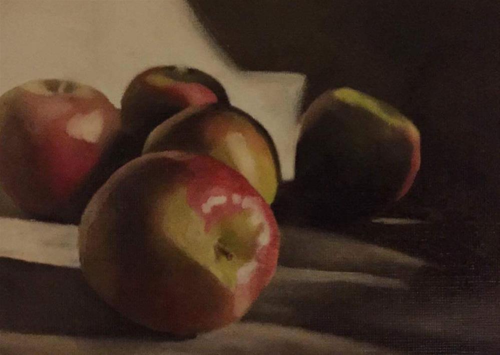 """Apples"" original fine art by John Cameron"