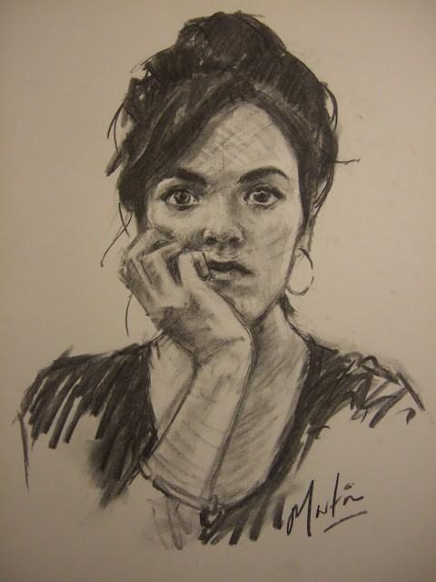 """Molly"" original fine art by Chris Martin"