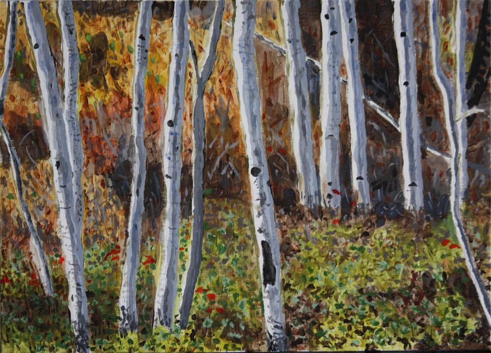 """Aspen Walk"" original fine art by Terri-Anne Barge"