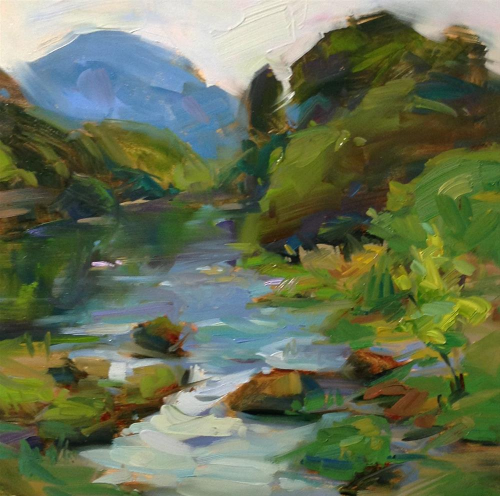 """Row, Row, Row my Row River"" original fine art by Patti McNutt"