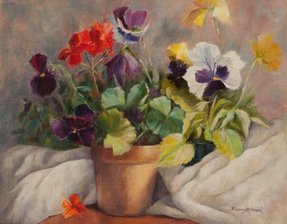 """Spring Dance"" original fine art by Debbie Lamey-Macdonald"