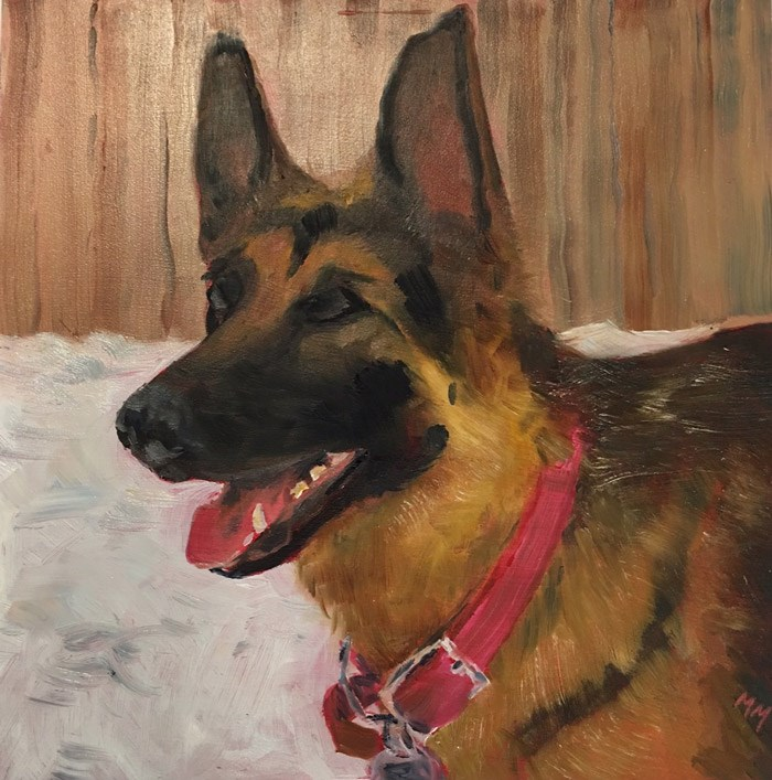 """Chloe"" original fine art by Maria McNitt"