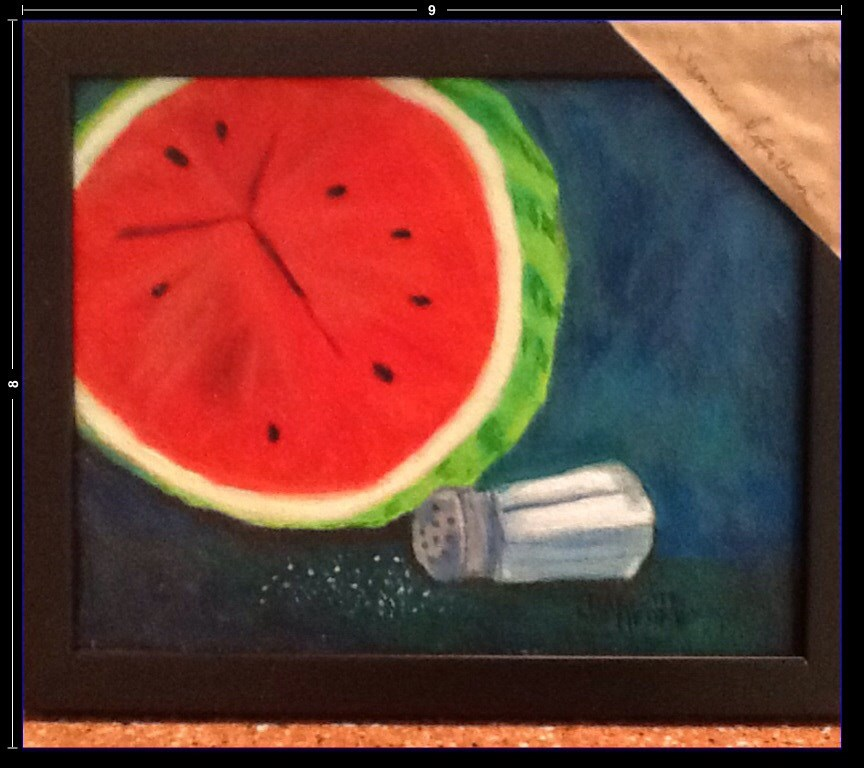 """SUMMER REFRESHMENT"" original fine art by Charlotte Bankhead Hedrick"