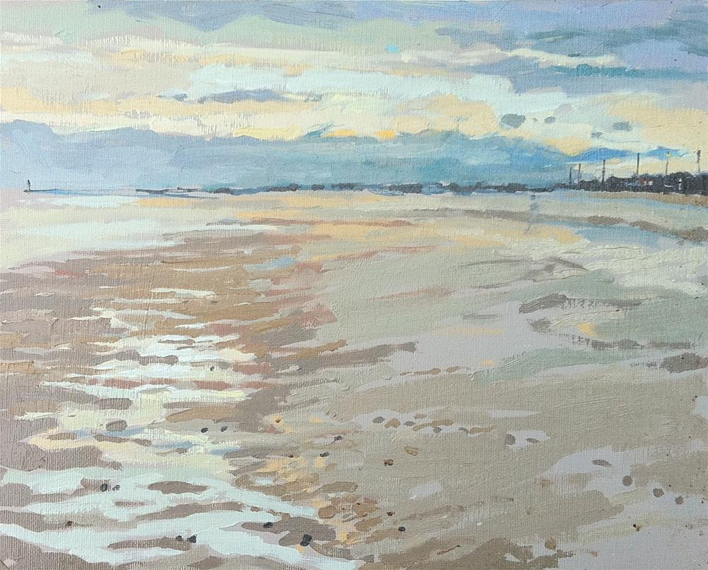 """Sutton on sea with Maisie and Mabel"" original fine art by Haidee-Jo Summers"