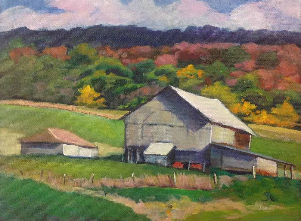 """Virginia Barn"" original fine art by Susan Suraci"