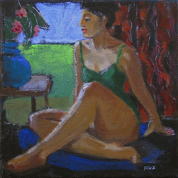 """Figurative painting, woman, figure study, contemporary figure painting, figurative artist"" original fine art by Marie Fox"
