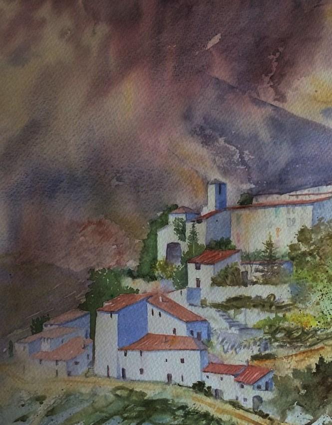 """""""Storm over Mont Ventoux"""" original fine art by Peter Wellington"""